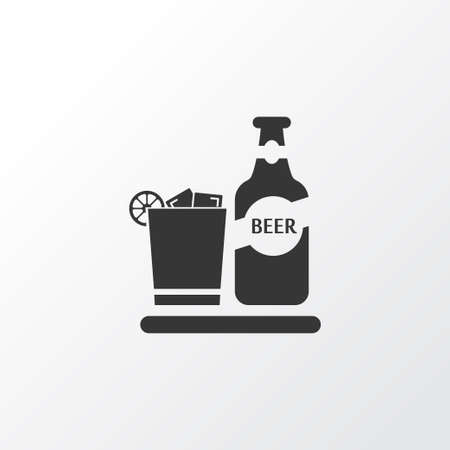 Beverage icon symbol. Premium quality isolated beer with ice element in trendy style.