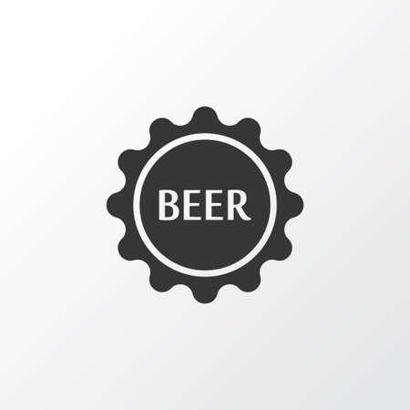 Beer lid icon symbol. Premium quality isolated bottle cap element in trendy style. Stock fotó