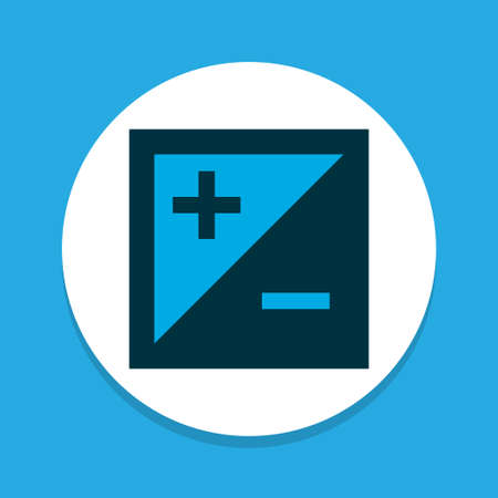 Exposure icon colored symbol. Premium quality isolated mode element in trendy style.