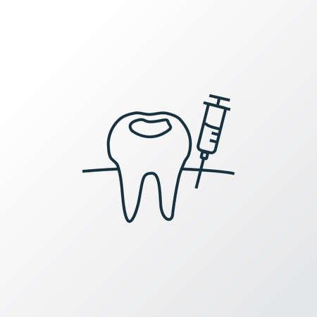 Anesthesia icon line symbol. Premium quality isolated syringe element in trendy style.