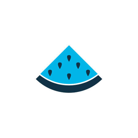 Melon icon colored symbol. Premium quality isolated watermelon element in trendy style.
