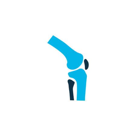 Symbole de couleur icône commune. Élément de genou isolé de qualité supérieure dans un style branché.
