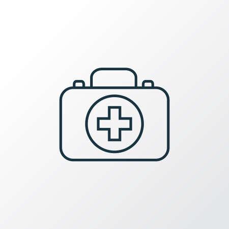 Medizin Symbol Symbol Linie. Isoliertes Erste-Hilfe-Gehäuseelement in Premium-Qualität im trendigen Stil. Vektorgrafik