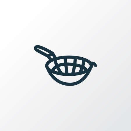 Sieve icon line symbol. Premium quality isolated colander element in trendy style.