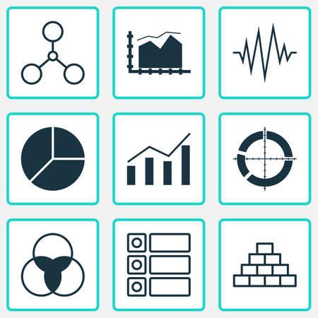Ensemble d'icônes de graphiques, diagrammes et statistiques. Collection de symboles de qualité premium. Les icônes peuvent être utilisées pour la conception de sites Web, d'applications et d'interface utilisateur.