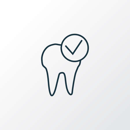 Dental care icon line symbol. Premium quality isolated healthcare element in trendy style.