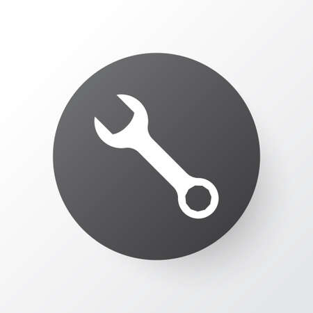 Wrench icon symbol. Premium quality isolated spanner element in trendy style. Stock Photo