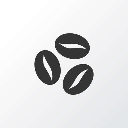 Coffee beans icon symbol. Premium quality isolated caffeine element in trendy style. Imagens