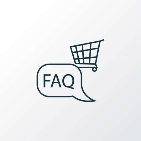 Shop faq icon line symbol. Premium quality isolated information element in trendy style.