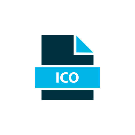 File ico icon colored symbol. Premium quality isolated coin offering element in trendy style.