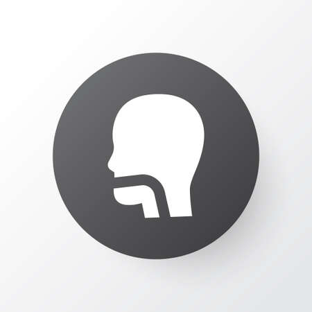Oral cavity icon symbol. Premium quality isolated breath element in trendy style.