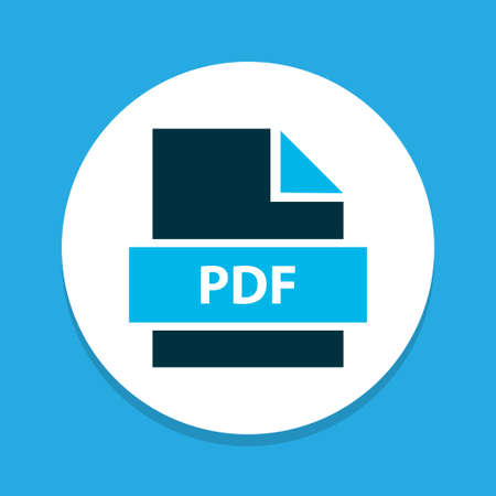 File pdf icon colored symbol. Premium quality isolated paper element in trendy style. Illustration