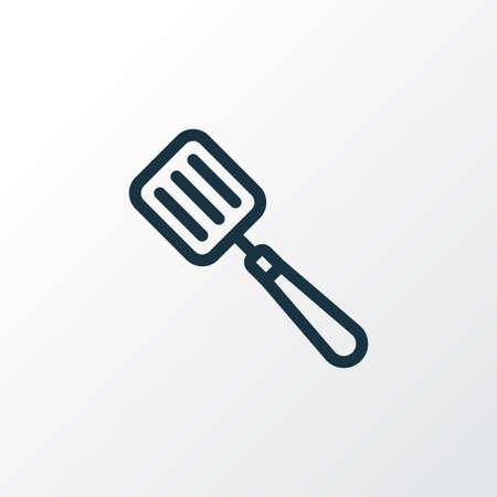 Spatel Symbol Liniensymbol. Isoliertes Geschirrelement in Premium-Qualität im trendigen Stil.