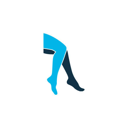 Leg icon colored symbol. Premium quality isolated foot element in trendy style. Illustration
