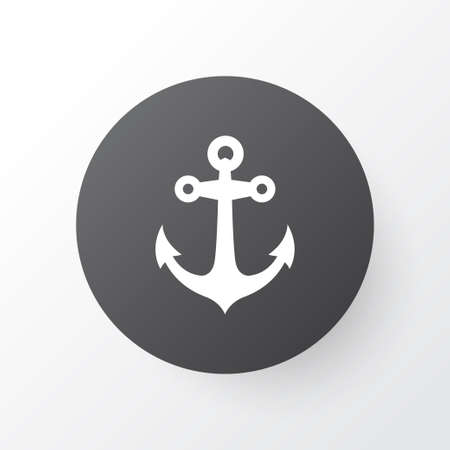 Anchor icon symbol. Premium quality isolated boat stability element in trendy style.