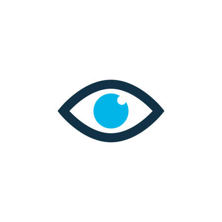 Eye icon colored symbol. Premium quality isolated view element in trendy style.