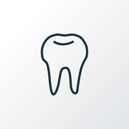 Tooth icon line symbol. Premium quality isolated enamel element in trendy style.