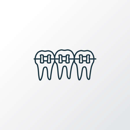 Braces icon line symbol. Premium quality isolated dentition element in trendy style.