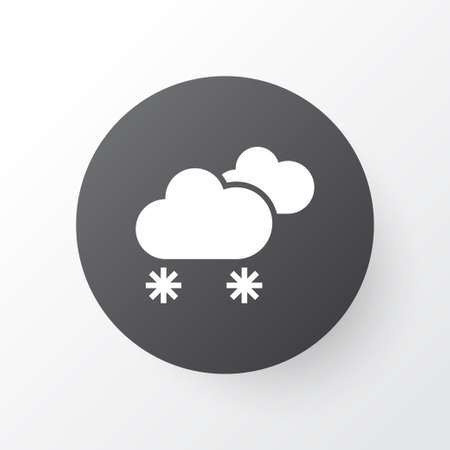 Weather icon symbol. Premium quality isolated cloudy small amount of snow element in trendy style. Illusztráció