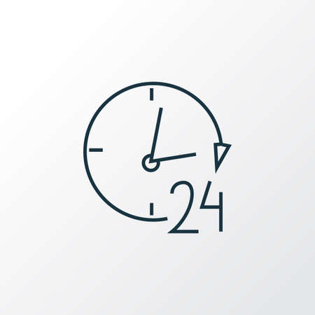 24 hour service icon line symbol. Premium quality isolated support element in trendy style.