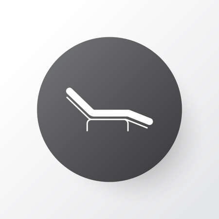 Beach chair icon symbol. Premium quality isolated chaise longue element in trendy style.