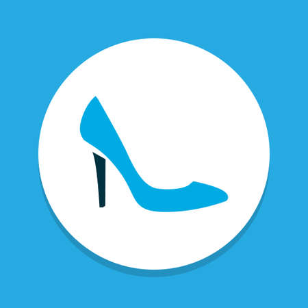 Stiletto icon colored symbol. Premium quality isolated heeled shoes element in trendy style. Banco de Imagens