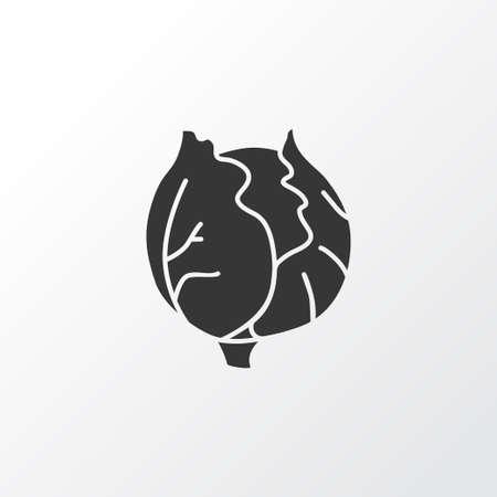 Cauliflower icon symbol. Premium quality isolated cabbage element in trendy style. Illustration