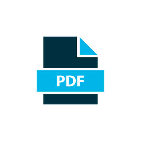 File pdf icon colored symbol. Premium quality isolated paper element in trendy style. Vectores