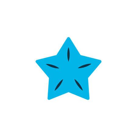 Starfruit icon colored symbol. Premium quality isolated carambola element in trendy style. Illustration