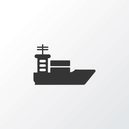 Ship icon symbol. Premium quality isolated vessel element in trendy style. Illustration