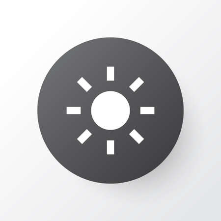 Brightness icon symbol. Premium quality isolated shine element in trendy style. Banco de Imagens