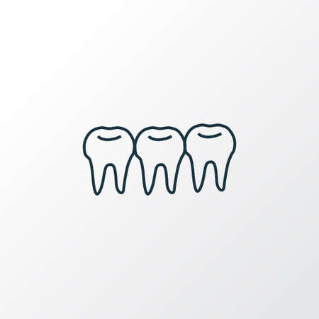 Teeth icon line symbol. Premium quality isolated denture element in trendy style.