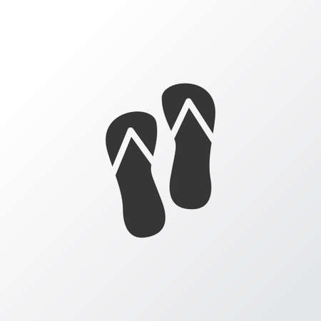 Flip flops icon symbol. Premium quality isolated beach sandal element in trendy style.