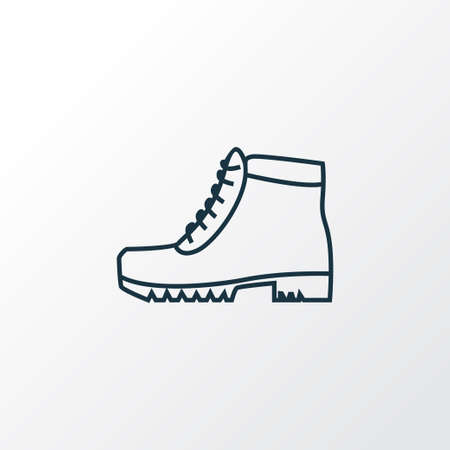 Camping boots icon line symbol. Premium quality isolated hiking shoes element in trendy style.