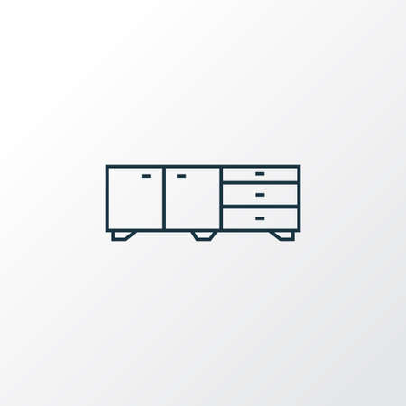 Sideboard icon line symbol. Premium quality isolated nightstand element in trendy style.