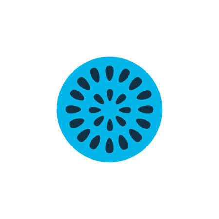 Passion fruit icon colored symbol. Premium quality isolated marakuja element in trendy style. Illustration