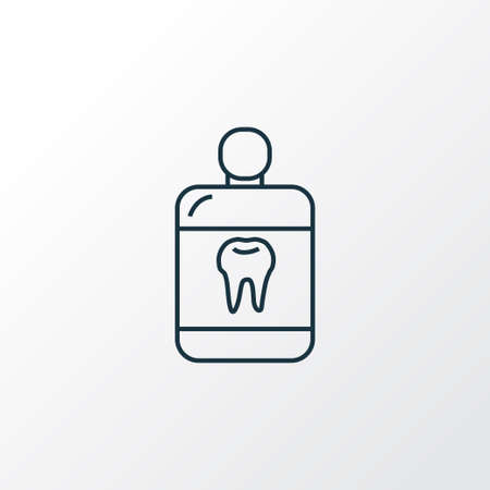 Mouthwash icon line symbol. Premium quality isolated cleanser element in trendy style. Stock Photo