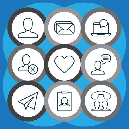 Network icons set with inbox, block, notification and other mailbox