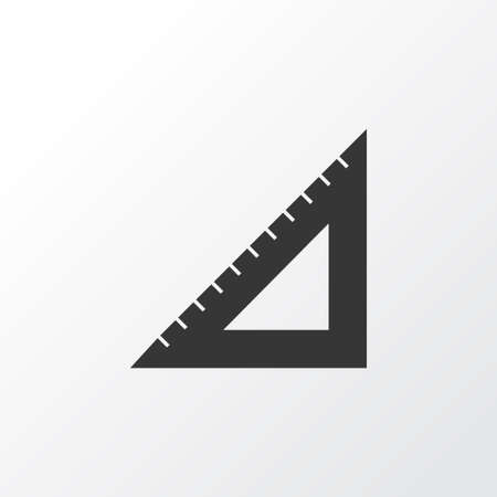 Straightedge icon symbol. Premium quality isolated triangle ruler element in trendy style. Иллюстрация