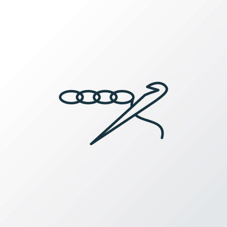 Crochet icon line symbol. Premium quality isolated knitting element in trendy style. Иллюстрация