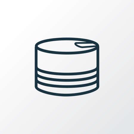 Símbolo de línea de icono de comida enlatada. Elemento de estaño aislado de primera calidad en estilo moderno. Ilustración de vector