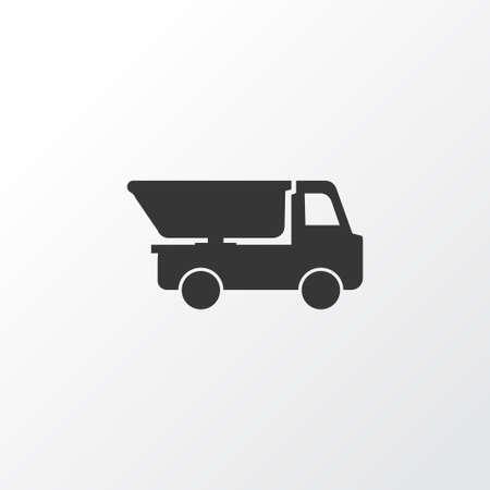 Truck icon symbol. Premium quality isolated dumper element in trendy style. Illustration