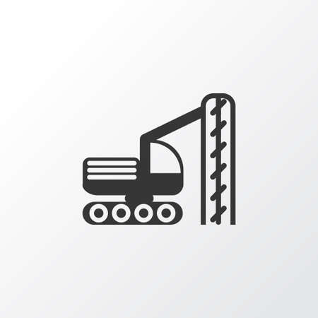 Drilling machine icon symbol. Premium quality isolated rig vehicle element in trendy style.