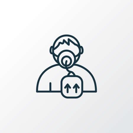 Oxygen mask icon line symbol. Premium quality isolated respiratory element in trendy style.
