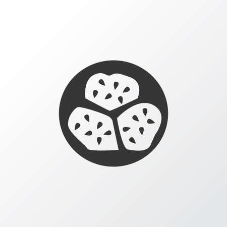 Kiwano icon symbol. Premium quality isolated exotic melon element in trendy style. Illustration