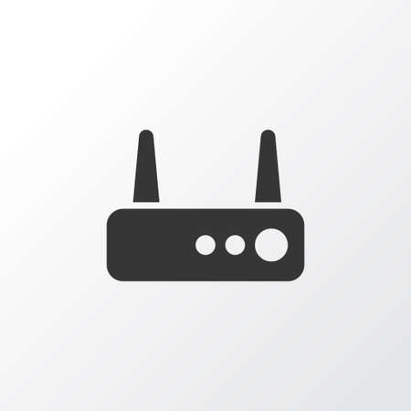 Router icon symbol. Premium quality isolated wifi element in trendy style.