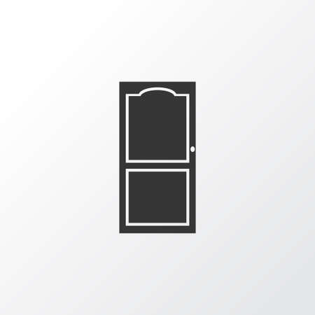 Door icon symbol. Premium quality isolated approach element in trendy style.