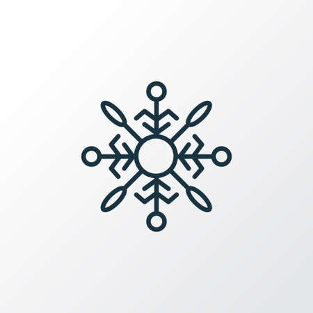 Snowflake icon line symbol. Premium quality isolated snow crystal element in trendy style.