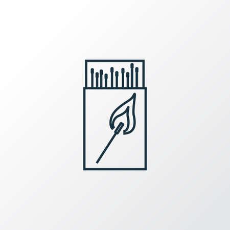 Matchbox icon line symbol. Premium quality isolated matches element in trendy style. 일러스트