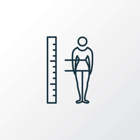 Body measurement icon line symbol. Premium quality isolated figure element in trendy style. Banque d'images